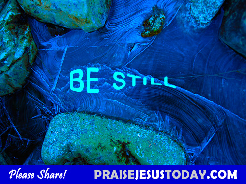 be still and wait on the lord